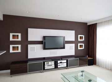 Home entertainment center hook up